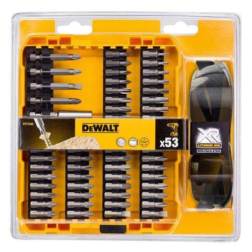 Акс.инстр DeWALT Набор dt71540 бит, магнит. держатель, 53 предм.