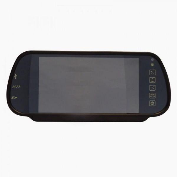 Зеркало со встроенным цветным монитором и плеером mp5 m-085, (7)