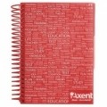 Блокнот Axent with dividers А5, 120sheets, square, red (8405-02-A)