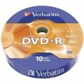 Диск DVD-R 10 Verbatim, 4.7Gb, 16x, Data Life, Wrap (43839)
