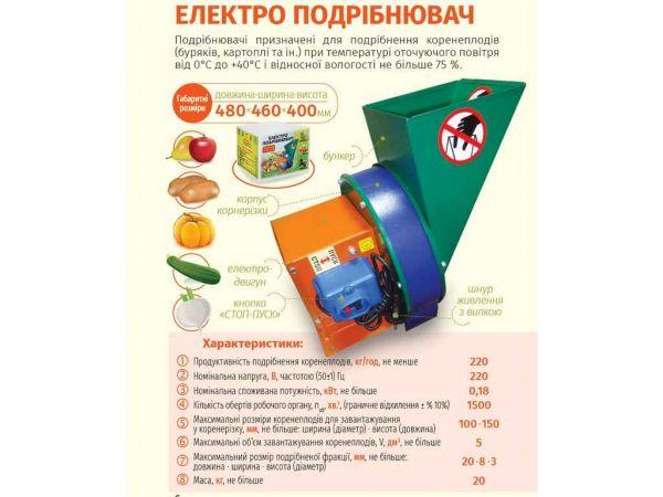 Подрібнювач овочів та фруктів, електричний тмркс