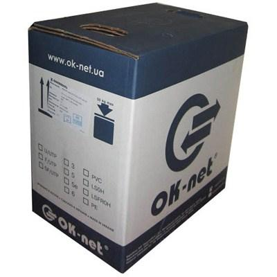 OK-NET кпв-вп (100) Кабель витая пара, внутренний, неэкранированный, медь, 2х2х0.50мм, 500м