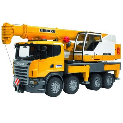 Спецтехника Bruder Автокран Scania Liebherr Большой (свет+звук) (03570)