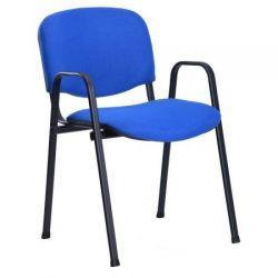 Офисный стул AMF Изо В черный Мадрас дарк браун