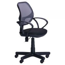 Офисный стул AMF Чат/АМФ-4 сиденье А-1/спинка Сетка серая