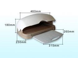 Хлібница пластикова з кух. дошкою 480*175*300мм (бежева) ТМ КОНСЕНСУС
