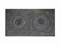 Плита чавунна двокамфорна клітка 700х400 ТМ АЛЬЯНС