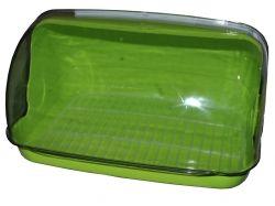 Хлібниця пластикова маленька 330*255*175мм (салатова) ТМ КОНСЕНСУС