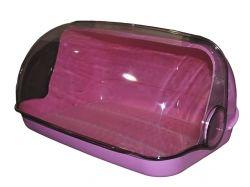 Хлібниця пластикова маленька 330*255*175мм (рожева) ТМ КОНСЕНСУС