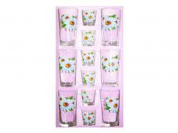 Набір склянок 12пр. вис (6*200мл6*50мл) Ромашка 05с1256 ТМОСЗ