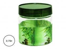 Ємність для сип. продуктів 0,75л Зелений бамбук 614 ТМSNT