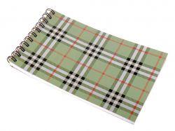 Блокнот А6 48 арк. # на спір.,кар.обк.Шотландка зелений ВМ.248004 ТМBUROMAX