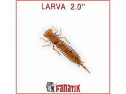 Приманка силіконова Larva 2 (50 мм) колір 002 (8 шт. в уп. ) ТМFANATIK