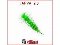 Приманка силіконова Larva 2 (50 мм) колір 020 (8 шт. в уп. ) ТМFANATIK