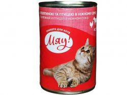 Консервований корм для котів з телятиною та птицею в ніжному соусі 415гр ТММЯУ