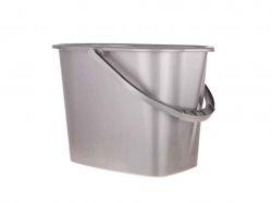 Відро пл. 11л прямокутне для прибирання (сіре) ТМКОНСЕНСУС
