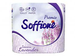 Папір туал.на гільзі Toscana Lavender(964) 4 рул 3-шар ТМSOFFIONE
