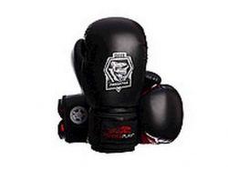 Рукавиці бокс PowerPlay 3022/Сowhide blackred 14унц ТМPOWER PLAY