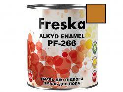 Емаль 0,9кг ПФ-266 85 Жовто-коричневий ТМFRESKA