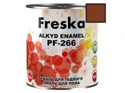Емаль 0,9кг ПФ-266 87 Червоно-коричневий ТМFRESKA