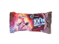 Вологі серветки з ароматом парфумів (15 шт.) ТМ100% ЧИСТОТЫ