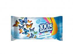 Вологі серветки Без запаху (15 шт.) ТМ100% ЧИСТОТЫ