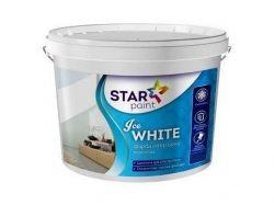 Фарба 4кг Ice WHITE для стель та стін ТМSTAR PAINT