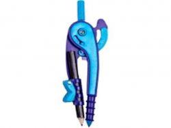 Циркуль пластик зі шкалою в блістері, фіолетовоголубий ZB.539607 ТМZIBI