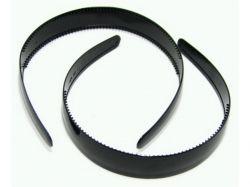 Обруч пластик, широкий чорний 2,5 см 4109001 ТМКИТАЙ