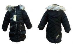 Пальто зимове (халофайбер) для дівчинки р.XL чорне арт.368 ТМКИТАЙ