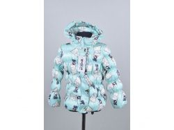 Куртка осіння дитяча Сімпсони 8 років арт.1810 бірюзова ТМКИТАЙ