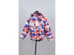 Куртка осіння дитяча Камуфляж 4 роки арт.15051 червона з синім ТМКИТАЙ