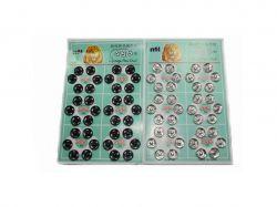 Кнопки пришивні металеві №2 (36шт/12мм) QUO срібні ТМКИТАЙ