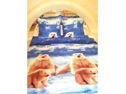 Комплект постільної білизни 1,5 спальний 70*70 полібязь 3Д арт.10 ТМConstancy