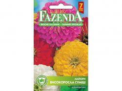 Квіти ЦИНІЯ ВИСОКОРОСЛА СУМІШ (ОДНОРІЧ.) (10 пач) 0,5Г РС 21705 ТМFAZENDA