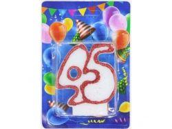 Свічка для торту цифра Ювілейна (контур) 45 років ТМ УКРАЇНА