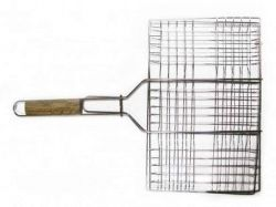 Решіткагриль для мяса 26х35см, з ручкою дерево, 59см ТМSUNDAY