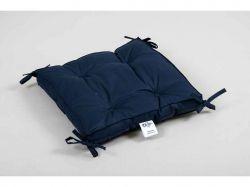 Подушка на стілець 40*40*5 Optima із завязками синя ТМLOTUS