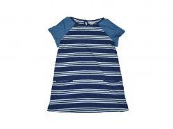 Туніка смугаста для дівчинки 8-9 років темно-синя 908404 ТМFAT FACE
