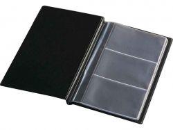 Візитниця для 60 візиток, вініл, чорна ТМPANTA PLAST