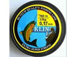 Ліска Klin 0,17mm. 2kg.100m. кол. прозора ТМКЛІНСЬКА