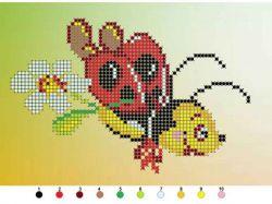 Набір на тканині для вишивання бісером Б520 Комашки ТМКИТАЙ