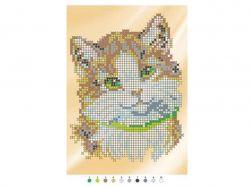 Набір на тканині для вишивання бісером Б523 Кіт ТМКИТАЙ