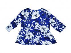 Блузка у квітку жіноча р.42 (укр.48) темно-синя 20106336 ТМICHI
