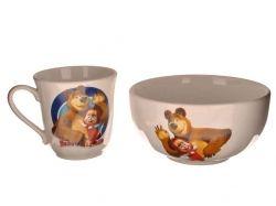 Набір дитячий 2х предметний:чашка Хвиля 220мл та салатник 0,5 ТМАВАНГАРД