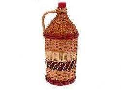 Пляшка скляна з пл. пробкою та декором 2л Винна Виноград ТМGLASS GO