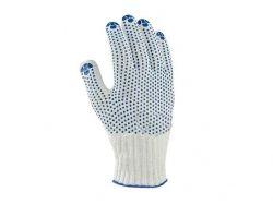 Перчатки робочі 880 біла з 2х стор. синьою ПВХ крапкою 10 клас, 10р. ТМDOLONI