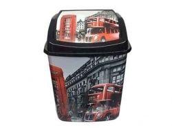 Відро для сміття 5л кач. кришка з малюнком Лондон автобус ТМELIF