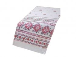 Рушник кухонний льняний великий Білий орнамент ТМУКРАЇНА
