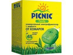 Електрофумігаторрідина від комарів 30 мл (45 ночей) Picnic Family ТМPICNIC